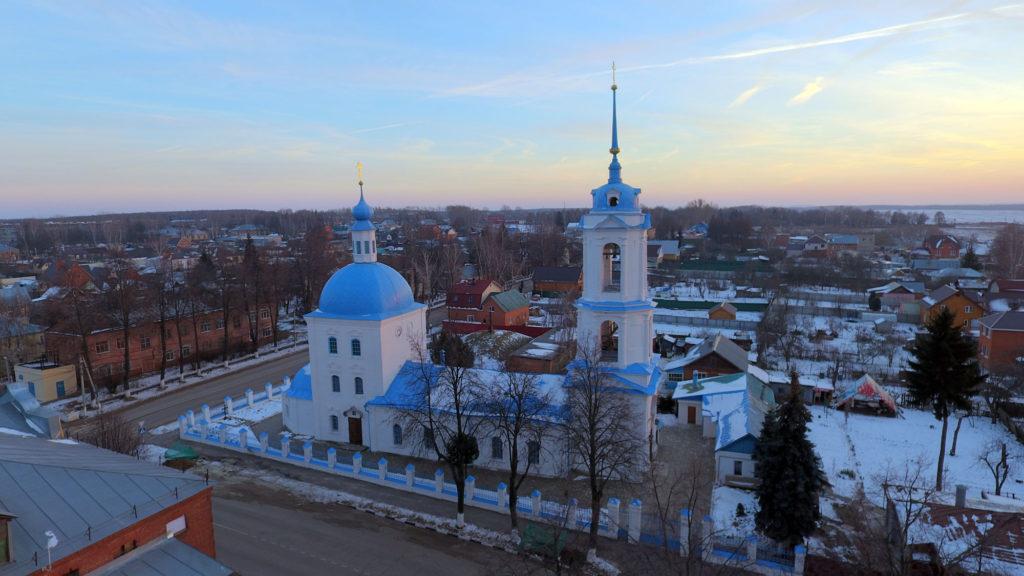Благовещенская церковь зимой