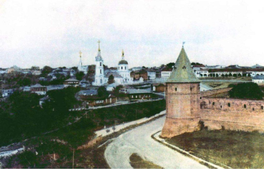 Зарайский кремль вид на башню