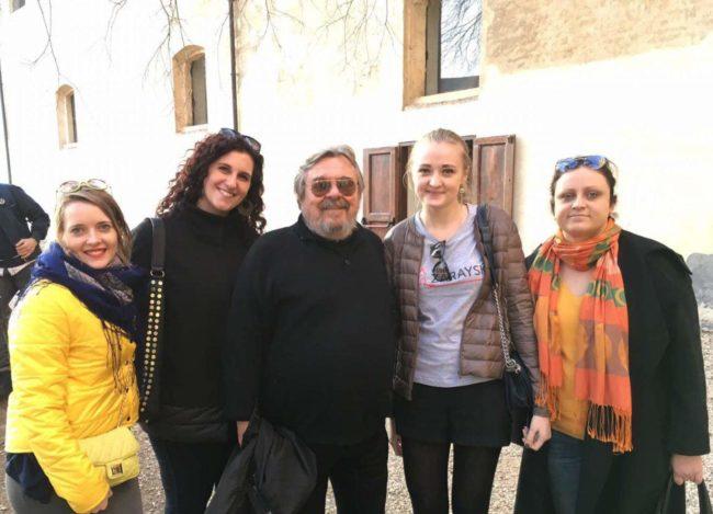 Сотрудники Центра туризма с Армандо Поллини и его коллегой Валентиной