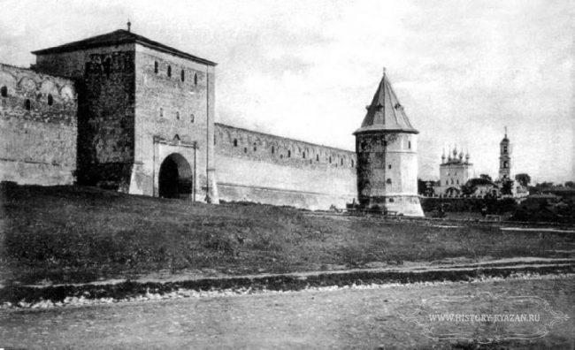 Зарайский кремль старое фото